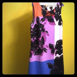 Floral sheath sleeveless summer dress